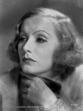 Greta Garbo Curly Hairdo Close Up Picture Photo by CS Bull