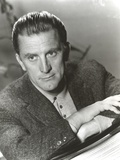 Kirk Douglas in Furry Coat Black and White Photo by  Movie Star News