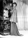 Anna Wong wearing a Long Glittering Tunic Photo by  Movie Star News