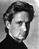 Michael Douglas Portrait in Black and White Photo by  Movie Star News