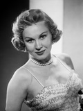 Virginia Mayo Posed in Dress with Pearl Necklace Photo by  Movie Star News