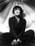 Luise Rainer on a Long Sleeve Top and sitting Photo by  Movie Star News