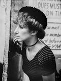 Barbra Streisand on Stripes Top Looking Away Photo by  Movie Star News