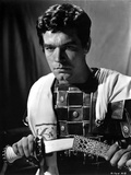 Stephen Boyd Looking Serious in Black and White Photo by  Movie Star News
