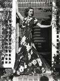 Loretta Young Maxi Flowers Dress Long Dress Photo by  Movie Star News