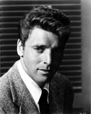 Burt Lancaster in Stripe Suit and Necktie Photo by  Movie Star News