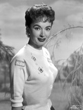 Ann Blyth on a Knitted Top and smiling Photo by  Movie Star News