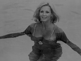 Angie Dickinson Swimming Black and White Photo by  Movie Star News