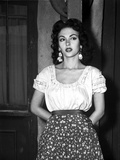 Rita Moreno on a Printed Skirt and Leaning Photo by  Movie Star News