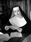 Ingrid Bergman Reading in a Nun Attire Photo by  Movie Star News