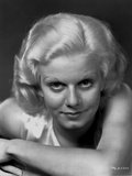 Jean Harlow Portrait in Black an White Photo by CS Bull