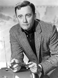 Robert Vaughn Posed in Black and White Photo by  Movie Star News