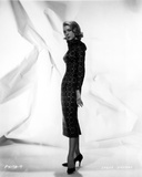 Inger Stevens Posed in a Printed Dress Photo by  Movie Star News