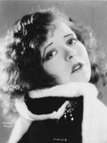 Clara Bow in Fur Coat Close up Portrait Photo by  Movie Star News
