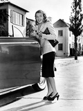 Ella Raines on a Long Sleeve and smiling Photo by  Movie Star News