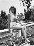 Rita Hayworth Posed in a White Lingerie Photo by  Movie Star News