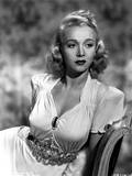 Carole Landis in a Dress with Metal Belt Photo by  Movie Star News