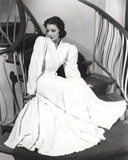 Loretta Young Old White Long Sleeve Dress Photo by  Movie Star News