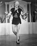 Ginger Rogers Posed in Black Mini Skirt Photo by  Movie Star News