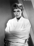 Mia Farrow Portrait wearing White Robe Photo by  Movie Star News