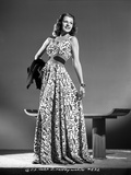 Rita Hayworth Posed in a Colorful Gown Photo by Robert Coburn