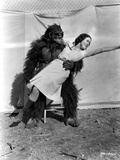 Maureen O'Sullivan Carried by a Gorilla Photo by  Movie Star News