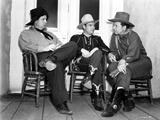 Gene Autry Seated on Chair with Two Men Photo by  Movie Star News