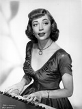 Marie Windsor Playing Piano in Classic Photo by  Movie Star News