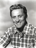Kirk Douglas in Checkered Polo Portrait Photo by  Movie Star News