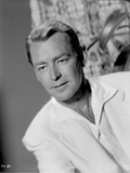 Alan Ladd Candid Shot in Black and White Photo by  Movie Star News