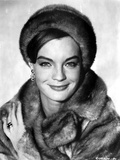 Romy Schneider in Fur Coat and Fur Hat Photo by  Movie Star News