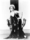 Clara Bow Posed in Black Dress Portrait Photo by  Movie Star News