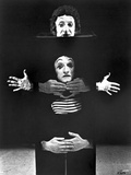 Marcel Marceau Posed in Black Portrait Photo by  Movie Star News
