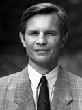 Michael York standing in Black and White Photo by  Movie Star News