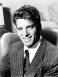 Burt Lancaster in a Stripe Suit and Tie Photo by  Movie Star News