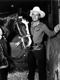 Gene Autry in Cowboy Outfit with a Horse Photo by  Movie Star News