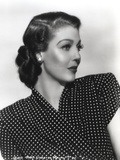 Loretta Young polka dot Black and White Photo by  Movie Star News
