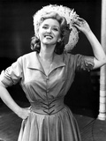 Celeste Holm on a Dress Holding her Hat Photo by  Movie Star News
