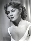 Rhonda Fleming Looking Side Ways in White Photo by  Movie Star News