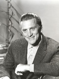 Kirk Douglas Pulling Rope Black and White Photo by  Movie Star News