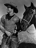 Montgomery Clift Posed in Cowboy Attire Photo by  Movie Star News