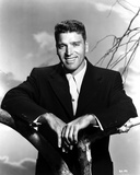 Burt Lancaster Pose in Black and White Photo by  Movie Star News
