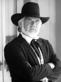 Kenny Rogers Posed in Black Suit With Hat Photo by  Movie Star News