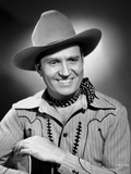 Gene Autry smiling and Holding a Guitar Photo by  Movie Star News