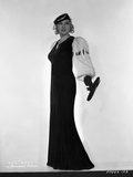 Mae West Posed in Black with Fur Sleeves Photo by  Movie Star News