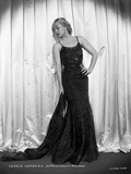 Carole Lombard posed in Long Black Gown Photo by  Walling