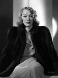 Eve Arden on Furry Coat sitting Portrait Photo by  Movie Star News