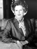 Margaret Thatcher on a Blazer and Leaning Photo autor Movie Star News