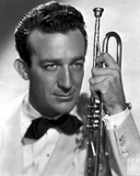 Harry James in White Formal With Trumpet Photo by  Movie Star News
