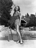 Rita Hayworth Posed Near the Swimming Pool Photo by  Movie Star News